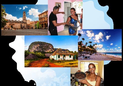 foto collage de Viajes personalizados a Cuba