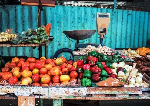 Groenten en fruit markt Havana Cuba