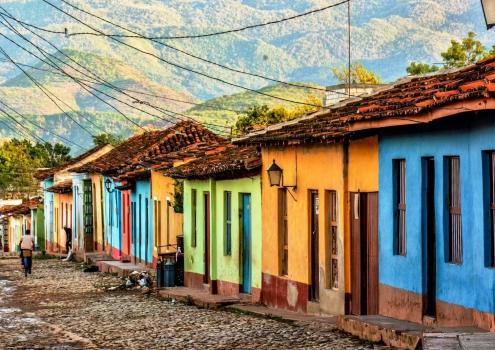 Gekleurde huisjes in Trinidad Cuba