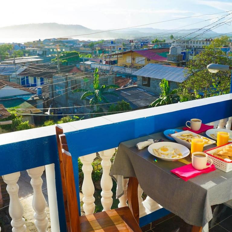Ontbijt bij casa particular in Cuba