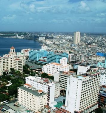 Vista de La Habana dede el bar La Torre en el Vedado