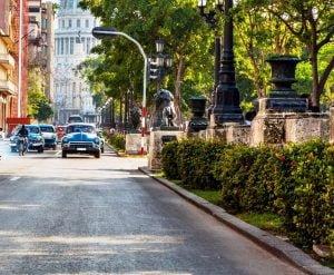 El Paseo de Prado en la Avenida de Prado. La Habana Cuba